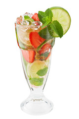 Mojitos strawberry cocktail delicious summer drink