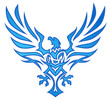Blue Flame Eagle Tattoo