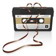 Leinwanddruck Bild - Audiokassette, Musikkassette, Kassette, Tonband
