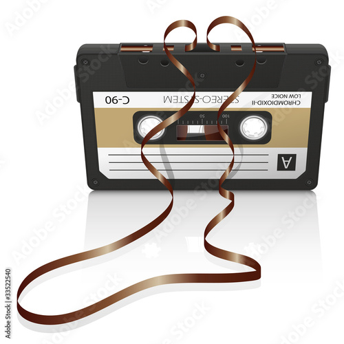 Leinwanddruck Bild Audiokassette, Musikkassette, Kassette, Tonband