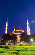 Blue Mosque park night Istanbul Turkey