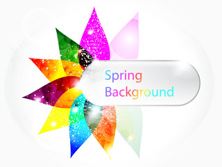 abstract colorful floral spring background