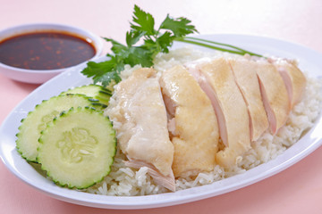 Steam Chicken over Rice