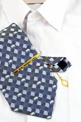 Necktie and white shirt