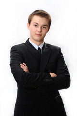 Young and seriously businessman