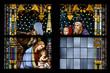 Geburt Christi - Weihnachten Glasfenster Detail