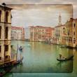 Il Canal Grande di Venezia su texture retro