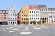 Leinwanddruck Bild - Augsburg Rathausplatz