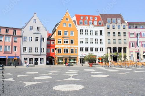 Leinwanddruck Bild Augsburg Rathausplatz