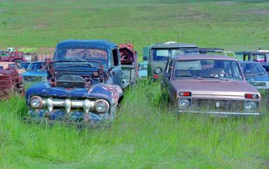 Dump of cars