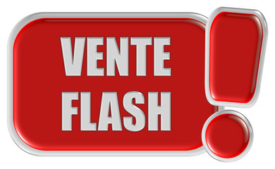 !-Schild rot VENTE FLASH