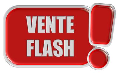!-Schild rot VENTE FLASH