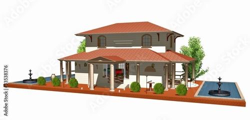 Casa villa stile romano roman style house 3d 1 photo for Case in stile villa italiana