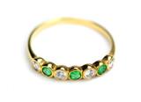 Ring mit Brillanten und Smaragden - 33540189