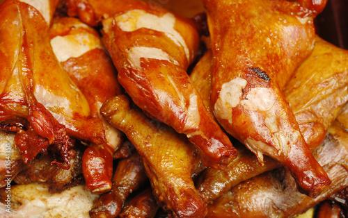 Deurstickers Klaar gerecht chicken drumsticks