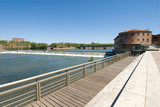 viewing platform and Garonne river