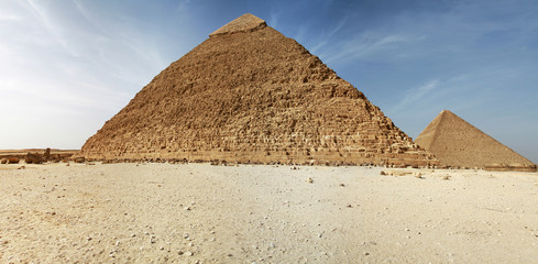 Panorama of pyramids in Giza - Egypt