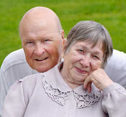 Senior woman and man
