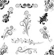 Set of floral design ornaments