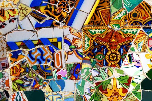 Gaudi Mosaik im Park Güell
