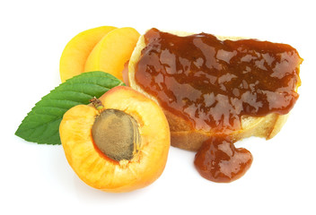 Apricot with jam