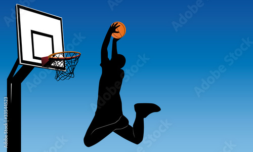 abstract vector illustation of a basketball player