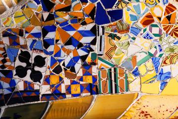 Mosaik von Gaudi im Park Güell