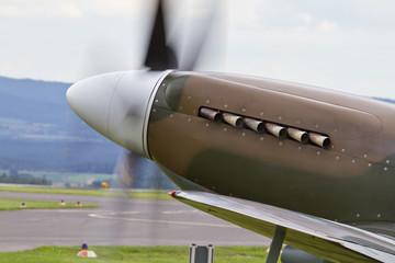 Nase einer Spitfire
