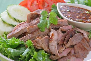 Thai Food Grilled Beef Steak