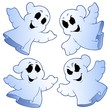 Four cute ghosts