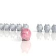 Sparschweine - finanzieller Vorsprung