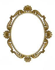 Cornice di bronzo su fondo bianco