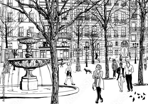 imaginary square in Paris - 33545911