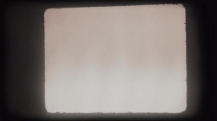 Macro shot of actual 8mm film projector gate