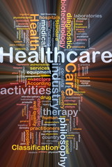 Healthcare background concept glowing