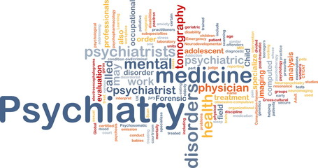 Psychiatry background concept