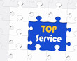 TOP Service - Marketing and Sales Concept