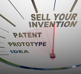 Sell Your Invention Words on Speedometer Steps for Inventing poster