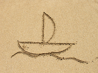 simple drawing in the sand