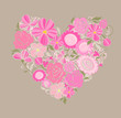 Beautiful greeting floral card