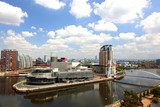 Panoramic view of Manchester at Salford Quay