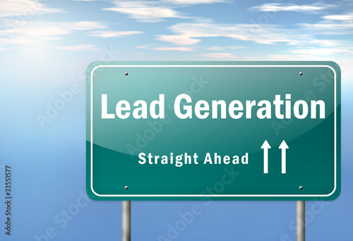 "Highway Signpost ""Lead Generation"""