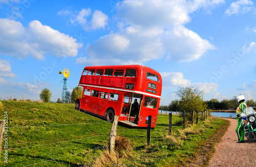 Aluminium Londen rode bus Verfahren