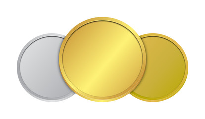Gold Silver Bronze Coins