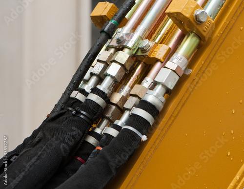 Hydraulik-Verbindung an einer Baumaschine