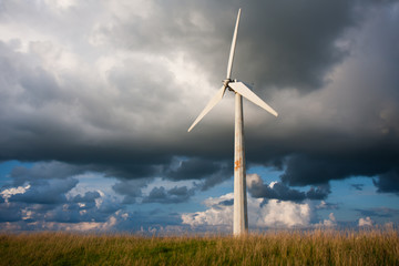 Windturbine with a beautiful Dutch Cloudscape