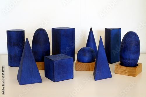 Volumes géométriques mathématiques Montessori