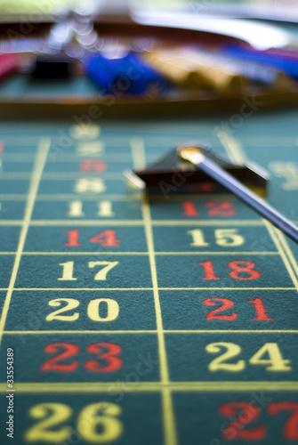 Roulettetisch mit Roulette
