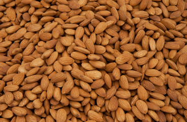 Whole Almonds as Background