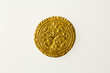 Gold half noble of Britain's King Edward III, reverse